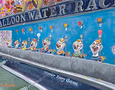 Balloon Water Race painting
