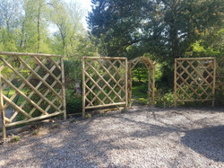 Rose trellis installed.jpg