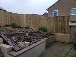 6ft featheredge around 3sides of garden