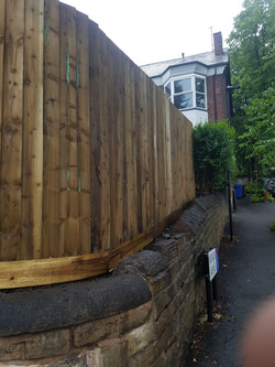 6ft featheredge round a 90degree corner