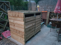 Twin bin storage