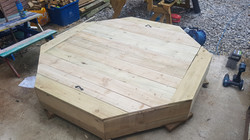 6x6 octagonal sandpit for Youlgrave play