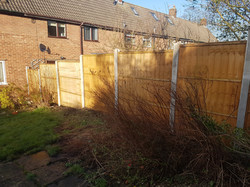 6ft Vertilap fence with concrete posts _