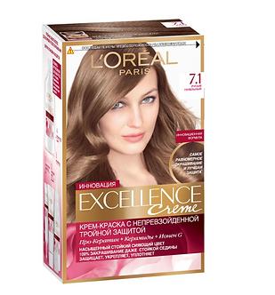 Loreal EXCELLENCE Краска для волос №7.1 Русый пепельный