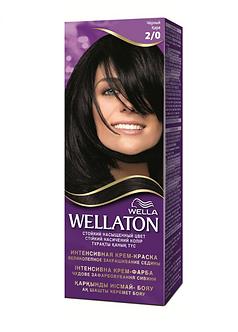 WELLA Wellaton Крем-краска для волос №2/0 Черный