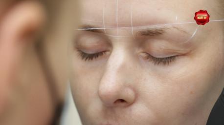 Процес выполнения процедуры перманентный макияж.Пудровое напыление.Работа мастера Меньковой Надежды.