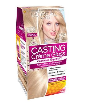 Loreal CASTING Creme Gloss Краска для волос №1021 Светло-светло-русый перламутр