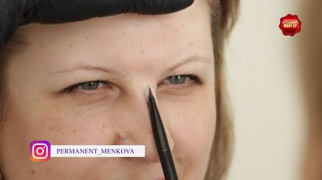Несмываемый макияж.Пудровые брови.Работа мастера Меньковой Надежды.До и после.