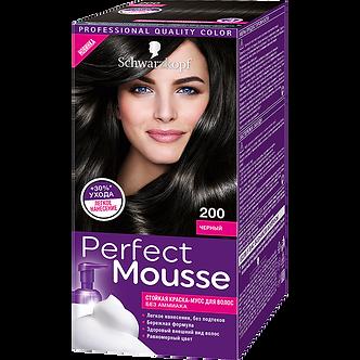 Schwarzkopf Perfect Mousse Краска для волос №200 Черный