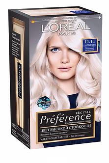 Loreal Preference Краска для волос №11.11 Ультраблонд