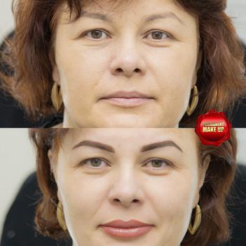 Перманентный макияж трёх зон.