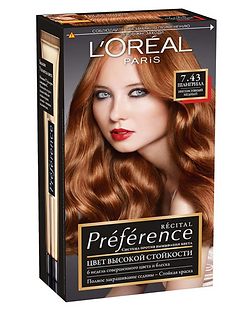 Loreal Preference Краска для волос №7.43 Шангрила
