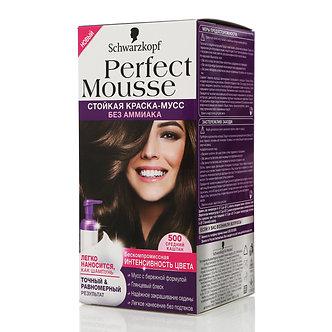 Schwarzkopf Perfect Mousse Краска для волос №500 Средний каштан