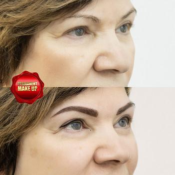 Перманентный макияж трёх зон.Брови,губы,