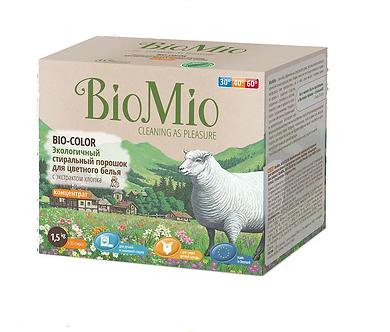 BioMio Экологичный стиральный порошок для цветного белья 1500гр.