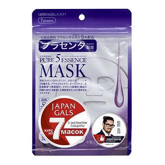 Japan Gals Маска 7шт. с Экстрактом Плаценты