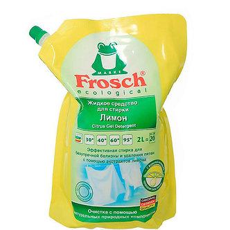 Frosch Жидкое средство для стирки Белого белья Лимон 2л.