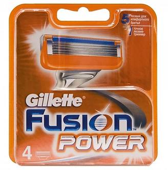 Gillette FUSION Power Лезвия 4шт.