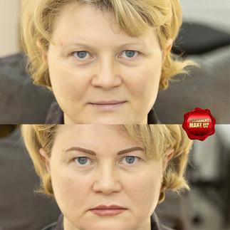 Две зоны.Перманентный макияж.Брови и губ