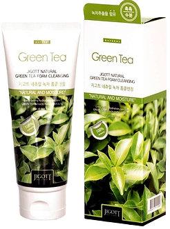 Jigott Очищающая пенка с экстрактом зеленого чая 180мл.