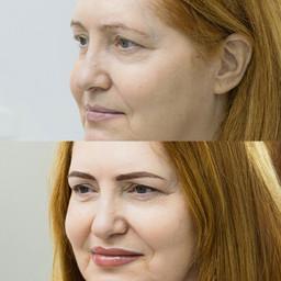 Перманентный макияж.Пудровые брови,губы,
