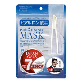 Japan Gals Маска 7шт. с Гиалуроновой Кислотой