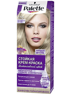 Schwarzkopf Palette Краска для волос № C10 Серебристый блондин