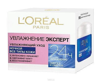 L'Oreal Paris Увлажнение Эксперт Ночной крем для лица для всех типов кожи 50мл.