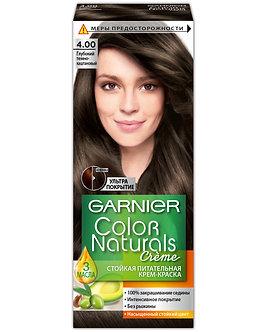 GARNIER Color naturals Краска для волос №4.00 Глубокий темно-каштановый