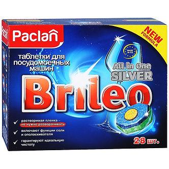 PACLAN Brileo Таблетки для посудомоечных машин 28шт.