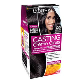 Loreal CASTING Creme Gloss Краска для волос №100 Черная ваниль.
