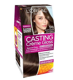 Loreal CASTING Creme Gloss Краска для волос №513 Морозный капучино