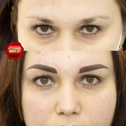 Перманентный макияж.Пудровые брови.Масте
