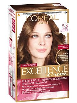 Loreal EXCELLENCE Краска для волос №5.3 Светло-каштановый золотистый