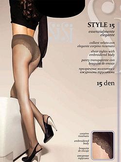 Колготки SiSi Style 15 Den NERO (чёрный)