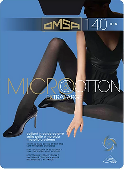 Колготки Omsa Micro Cotton 140 Den NERO (чёрный)