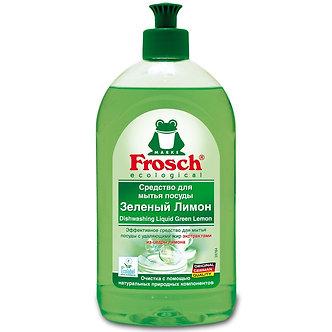 Frosch Средство для мытья посуды посуды Зеленый Лимон 500мл.