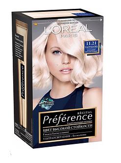 Loreal Preference Краска для волос №11.21 Ультраблонд