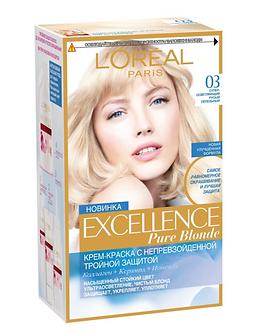 Loreal EXCELLENCE Краска для волос №03 Супер-осветляющий русый пепельный