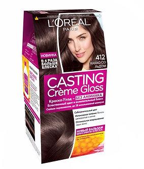 Loreal CASTING Creme Gloss Краска для волос №412 Какао со льдом