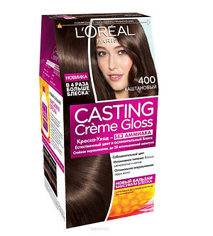 Loreal CASTING Creme Gloss Краска для волос №400 Каштановый