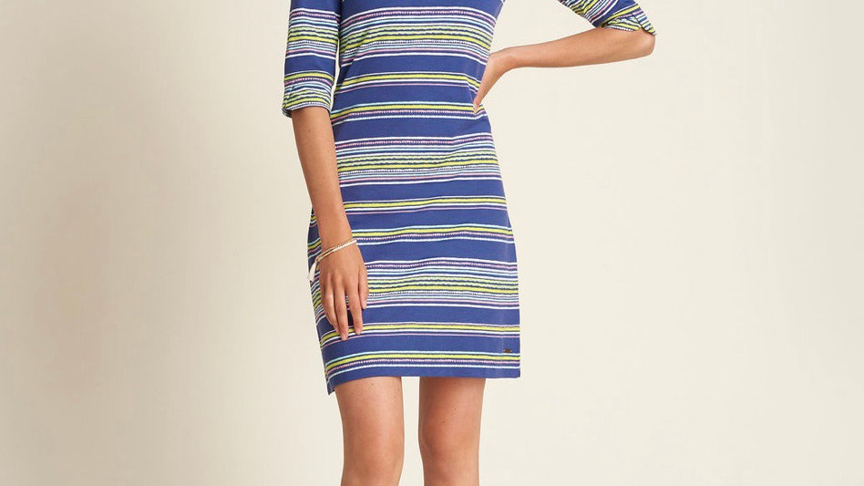 HATLEY LUCY DRESS TEXTURED STRIPES