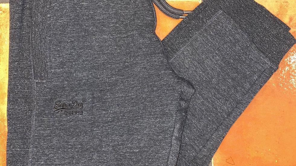 SUPERDRY ORANGE LABEL CLASSIC JOGGER BLACK SNOW HEATHER