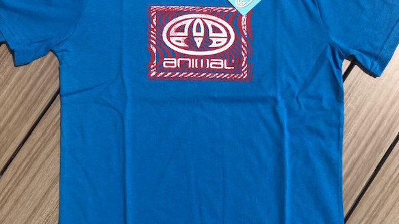 ANIMAL GRAPHIC TEE BLUE