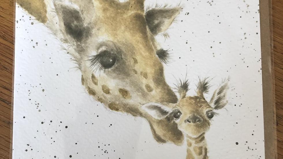 Giraffe Card First Kiss
