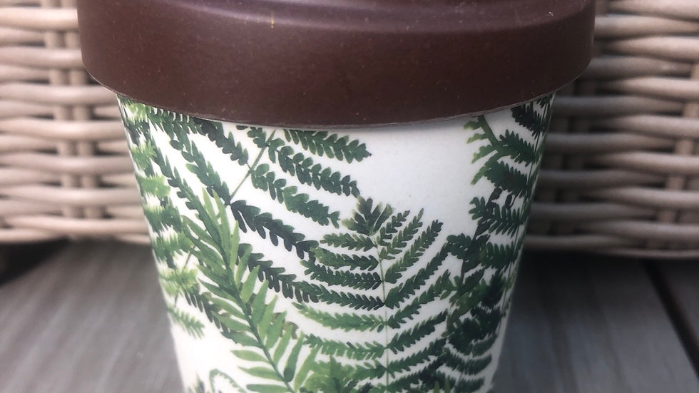 Bamboo Cup Green Leaves