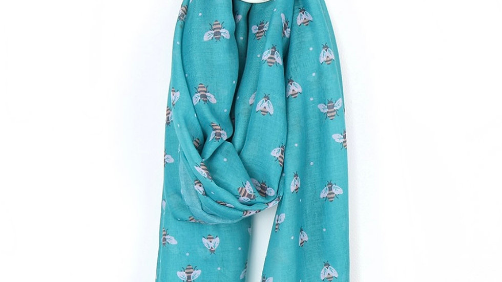 POM TURQUOISE BEE SCARF