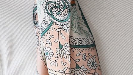 FOREVER ENGLAND PAISLEY GREEN SCARF
