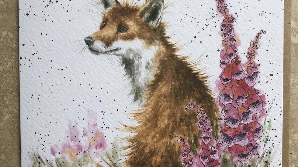 Foxgloves Card