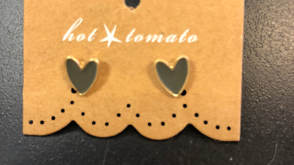 HOT TOMATO HEART EARRINGS